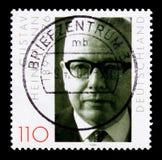 Portrair von Gustav Heinemann, Geburts-Jahrhundert von Gustav Heinemann-serie, circa 1999 Stockfoto