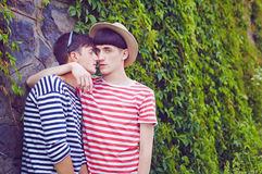 Portrair of young male couple Royalty Free Stock Images