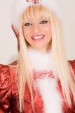 portrait圣诞老人夫人微笑 库存图片