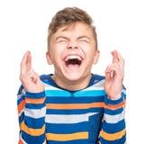 Portrait émotif de garçon de l'adolescence Images libres de droits