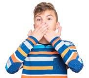 Portrait émotif de garçon de l'adolescence Photo stock