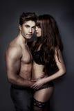Portrait érotique d'un couple sexy Images libres de droits