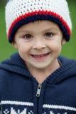 Portrait étroit d'un garçon de sourire photo stock