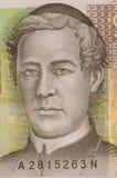 Portrait of 10 kuna croatian banknote. Macro portrait of Juraj Dobrila in 10 kuna croatian banknote Royalty Free Stock Image