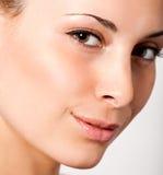 Portrait. Closeup facial portrait of young beautiful woman royalty free stock photos