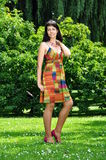 Portrait. Of a girl in colorful dress Stock Photography