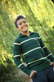 Portrait of 11 year old boy royalty free stock image