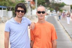 Portrait of 2 men Royalty Free Stock Images