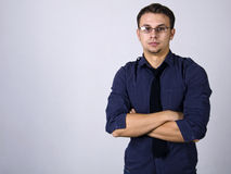 Portrait. Of a young man, a successful man royalty free stock photo