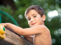Portrait of a  3-4 years boy Royalty Free Stock Photo