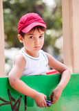Portrait of a 3-4 years boy Stock Photo