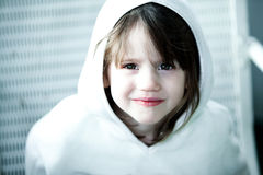 Portrait of a 3 year old. Close up of a three year old girl Royalty Free Stock Photography