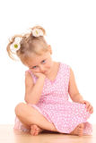 Portrait of 4 years old girl Royalty Free Stock Image