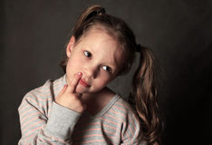 Portrait 5 years girl in studio Royalty Free Stock Image