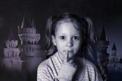 Portrait 5 years girl in studio stock photos