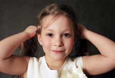 Portrait 5 years girls Stock Photography