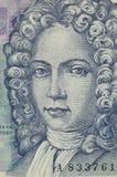Portrait of 50 kuna croatian banknote. Macro portrait of Ivan Gundulic on 50 kuna croatian banknote Royalty Free Stock Photo