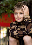 A portrait of a 7 year -old boy Royalty Free Stock Images