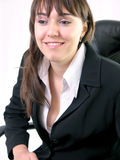 Portrait. Of a young business woman smiling stock image