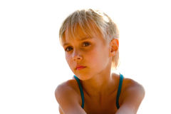 Portrait. Summer vacation at sea, little girl Royalty Free Stock Image
