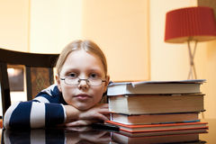 Portrait of 9-10 years old schoolgirl Stock Photography