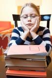 Portrait of 9-10 years old schoolgirl Stock Images