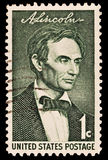 Portrait of Abraham Lincoln. Without his beard.  16th President of the United States of America. Issued in 1959 Stock Photos