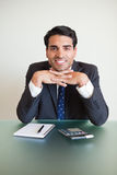 Portrait of an accountant posing Royalty Free Stock Images