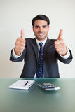Portrait of an accountant with the thumbs up Stock Photography