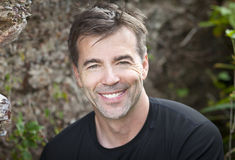Portrait Of A Active Man Smiling At The Camera royalty free stock photos