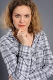 Portrait of the active woman Stock Photos
