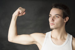 Portrait of active young man Royalty Free Stock Images