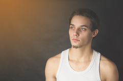 Portrait of active young man Royalty Free Stock Photography