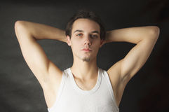 Portrait of active young man Stock Images