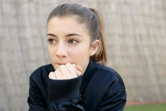 Portrait of adolescent with natural light. Royalty Free Stock Photos