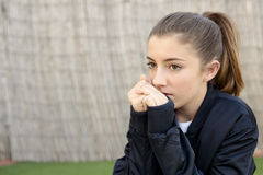 Portrait of adolescent with natural light. Stock Photography