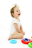 Portrait of adorable baby Stock Images