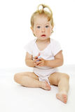 Portrait of adorable baby Stock Photos