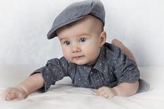 Portrait of adorable baby boy Stock Photos
