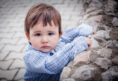 Portrait of an adorable baby boy Stock Image