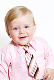 Portrait of adorable baby businessman Stock Images