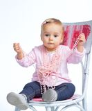 Portrait of an adorable baby girl Stock Photography