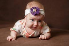 Portrait of adorable baby girl stock image