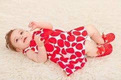 Portrait adorable baby girl Stock Photo