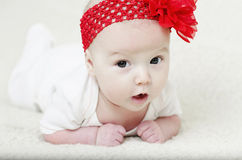 Portrait of adorable baby girl Stock Images