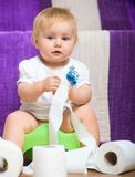Portrait of adorable baby Royalty Free Stock Photos