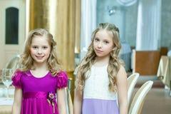 Portrait of adorable blond girlfriends Stock Photo