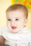 Portrait of adorable blue-eyes baby Royalty Free Stock Photography