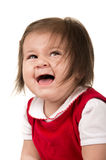 Portrait of adorable brunette baby girl wearing Royalty Free Stock Image