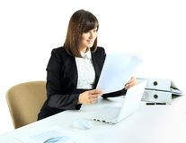 Portrait of an adorable business woman Stock Images